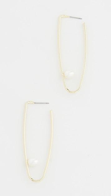 Jules Smith 养殖珍珠吊坠圈式耳环