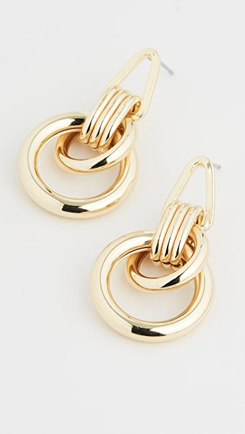 Jules Smith Roped Up Double Hoop Earrings
