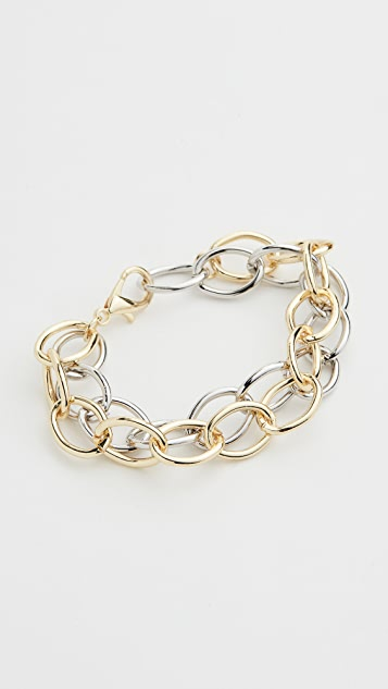 Jules Smith Two Big Link Chain Bracelet