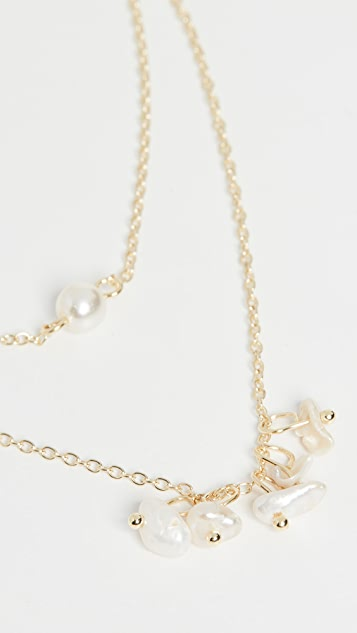 Jules Smith Cultured Pearl and Shell Double Layer Necklace