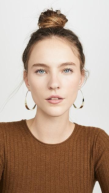 Jules Smith 扁平钢丝因此圈式耳环