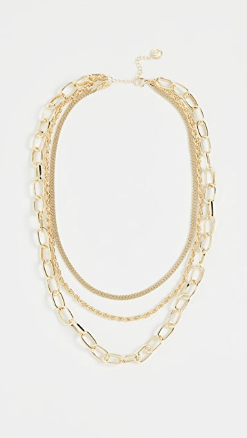 Jules Smith Triple Layered Chain Necklace