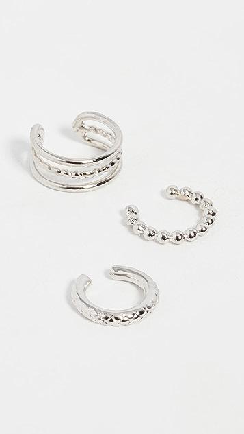 Jules Smith Set of 3 Ear Cuffs