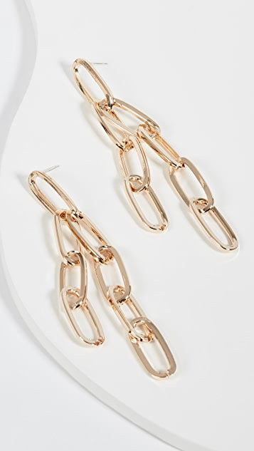 Jules Smith Chain Link Long Earrings