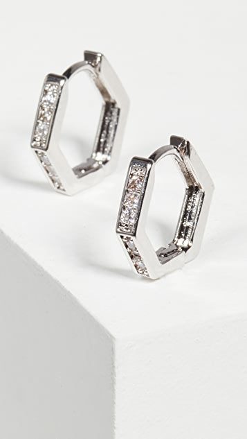 Jules Smith Little Angled Hoops