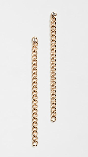 Jules Smith Curb Chain Stone Earrings