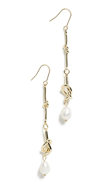 Jules Smith Pearl Dangle Knot Earrings