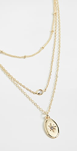 Jules Smith - Dainty Layered Charm Oval Necklace