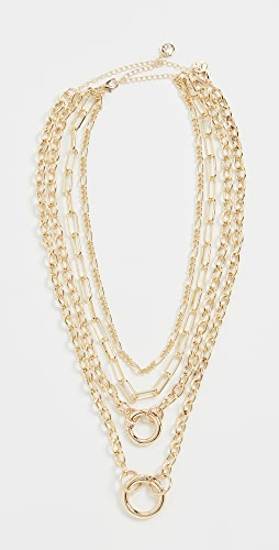 Jules Smith - Layered Chain And Ring Necklace