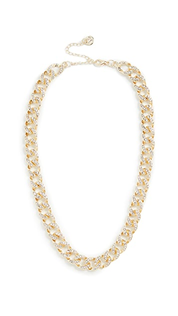 Jules Smith Ice Curb Chain Pave Necklace
