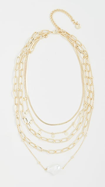 Jules Smith Layered Irregular Baroque Bead Necklace