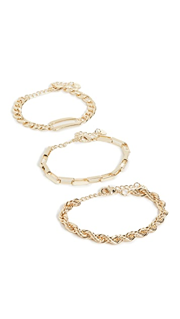 Jules Smith Multi Assorted Chain Bracelets