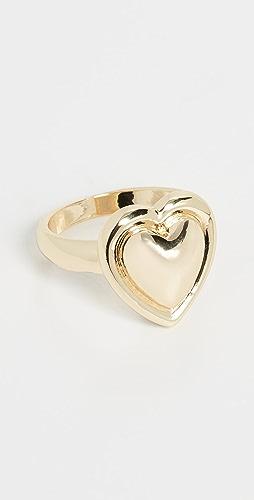 Jules Smith - Metal Heart Signet Ring