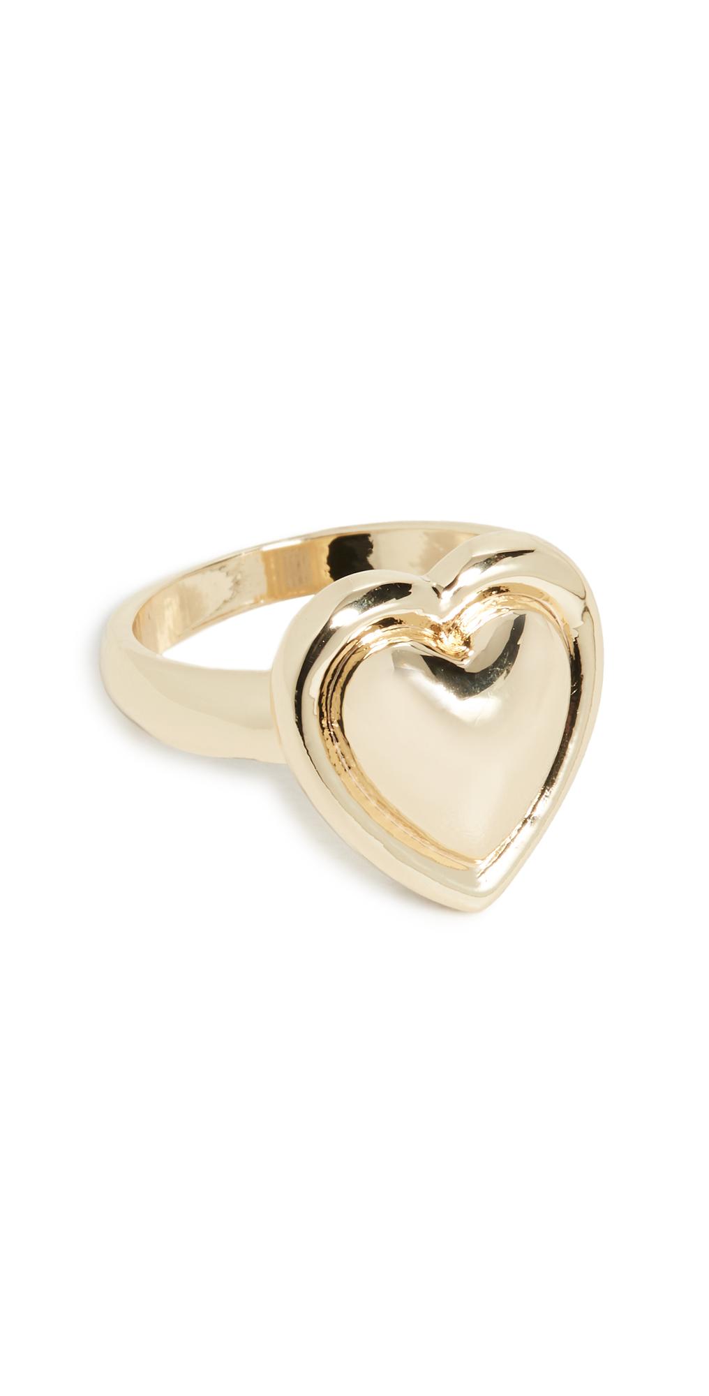 Metal Heart Signet Ring