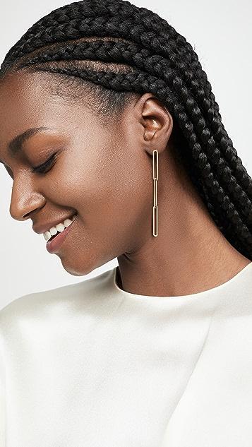 Jules Smith Elongated Chain Drop Earrings