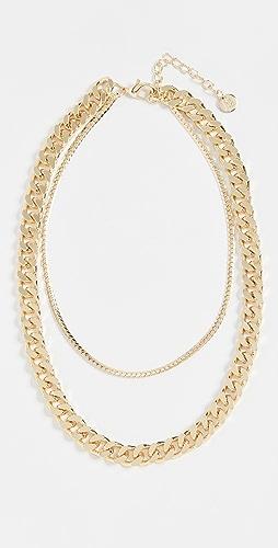 Jules Smith - 多层锁链和人字纹链条项链