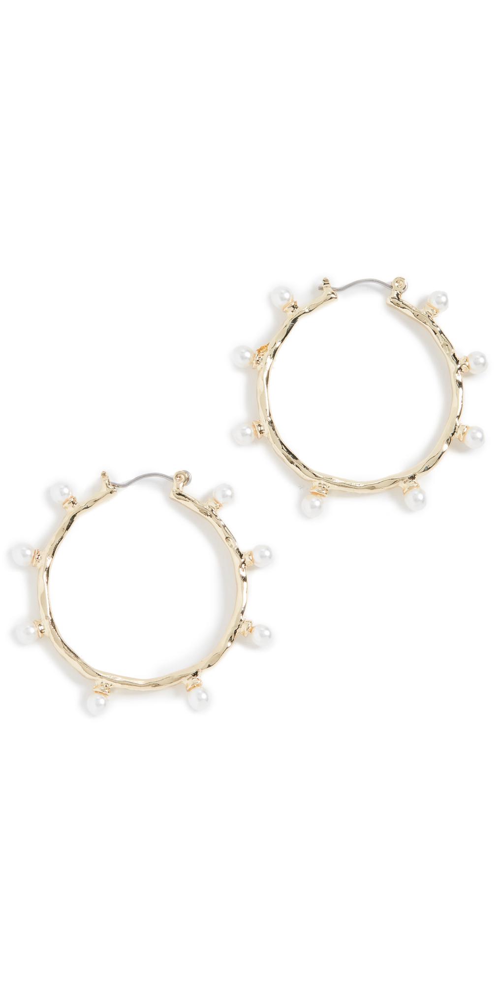 Spotted Hoop Earrings