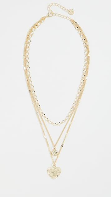 Jules Smith Love Me Crystal Layer Necklace