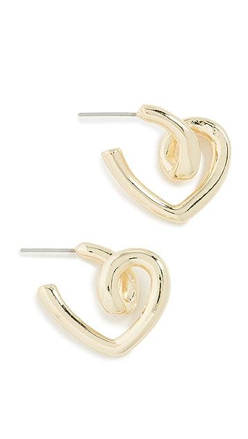 Jules Smith Twisted Heart Earrings