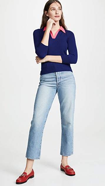 Jumper 1234 Contrast Polo Cashmere Sweater