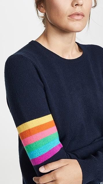 无领套头衫 1234 彩虹开司米羊绒圆领毛衣
