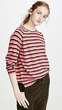 3 Color Stripe Cashmere Sweater