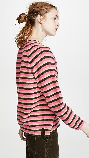 Jumper 1234 3 Color Stripe Cashmere Sweater