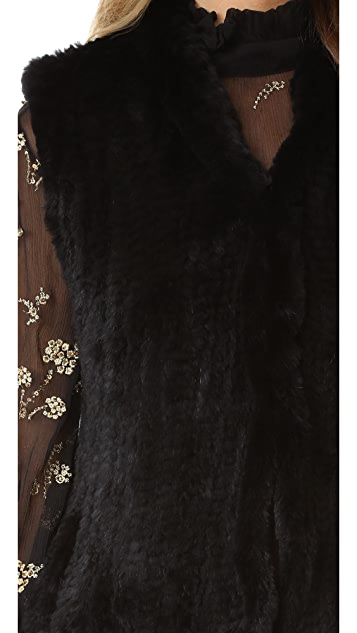 June Fur Shawl Vest