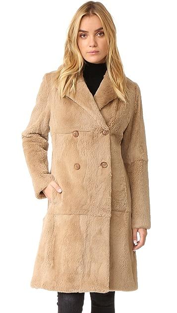 June Fur Trench Coat