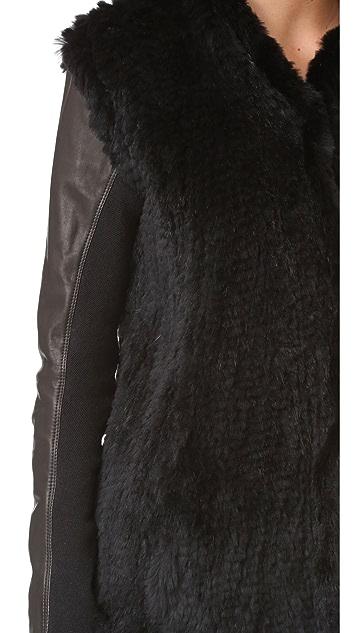 June Shawl Fur Leather Jacket