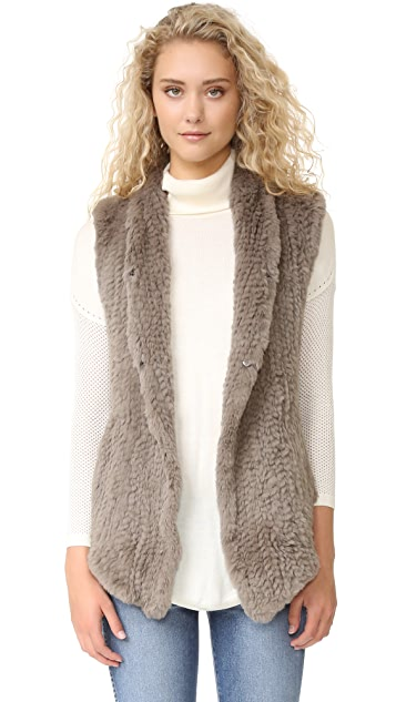 June Fur Shawl Vest