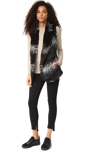 June Knitted Fur Vest