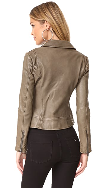 June Classic Fitted Leather Jacket