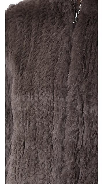 June Knitted Fur Bomber Jacket