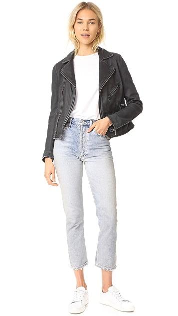 June Stone Wash Leather Jacket