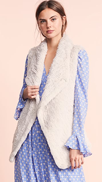 June Asymmetric Fur Vest