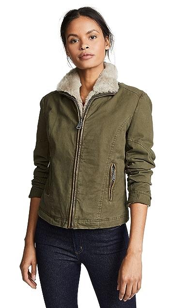June Fur Trim Pilot Jacket