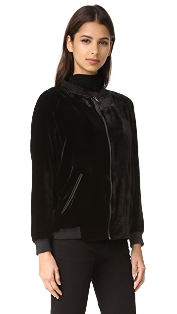 Just Female Ware Velvet Bomber