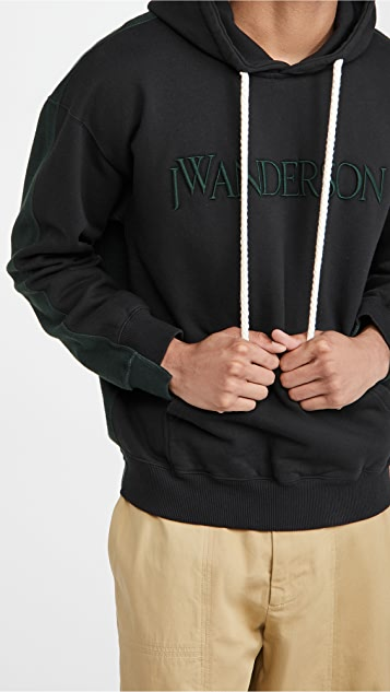 J.W. Anderson Deconstructed Fleece Back Hoodie