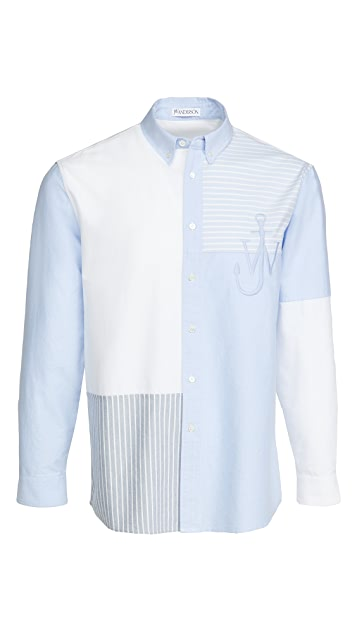 J.W. Anderson Relaxed Patchwork Shirt