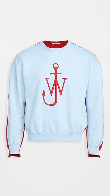 J.W. Anderson Deconstructed Fleece Back Sweatshirt