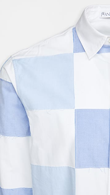 J.W. Anderson Checkerboard Applique Shirt