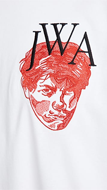 J.W. Anderson Embroidered Face JWA T-Shirt