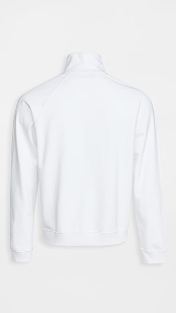 J.W. Anderson Embroidered Face Half Zip Sweater