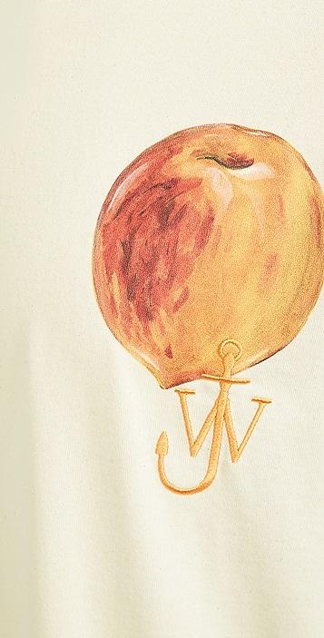 J.W. Anderson Printed Peach Logo T-Shirt