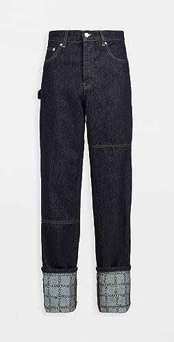 J.W. Anderson - Logo Grid Turn Up Workwear Jeans