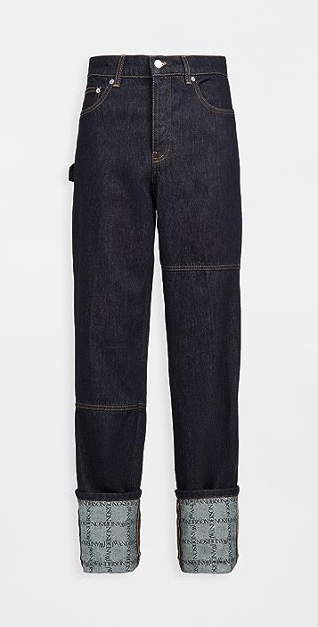 J.W. Anderson Logo Grid Turn Up Workwear Jeans
