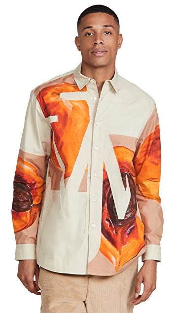 J.W. Anderson Veggie Fruit Relaxed Anchor Applique Shirt