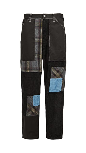 J.W. Anderson Cropped Patchwork Fatigue Trousers