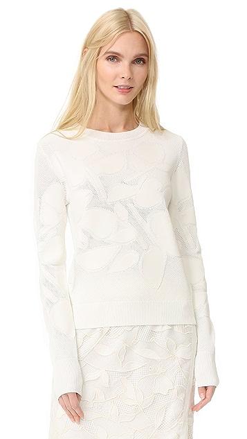 Jason Wu Grey Textured Sweater